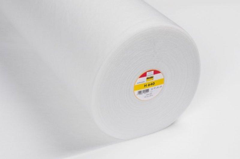 H 640 Vlieseline weiß - aufbügelbar - 90cm breit