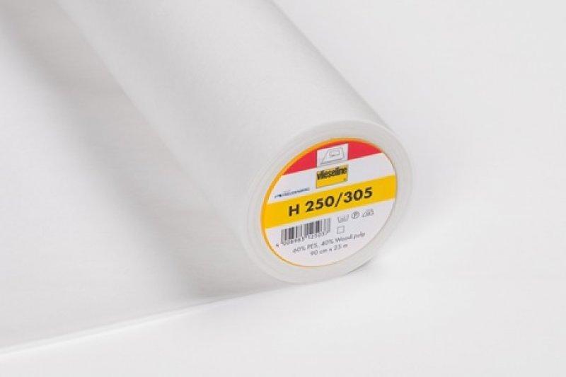 H 250 Vlieseline Einlage weiß - aufbügelbar - 90cm breit