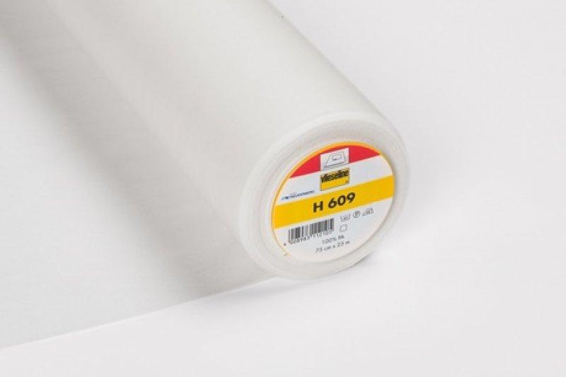 H609 Gewebeinlage - weiß - aufbügelbar - 75cm breit
