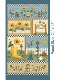 Sunshine Garden - Panel Blue Multi