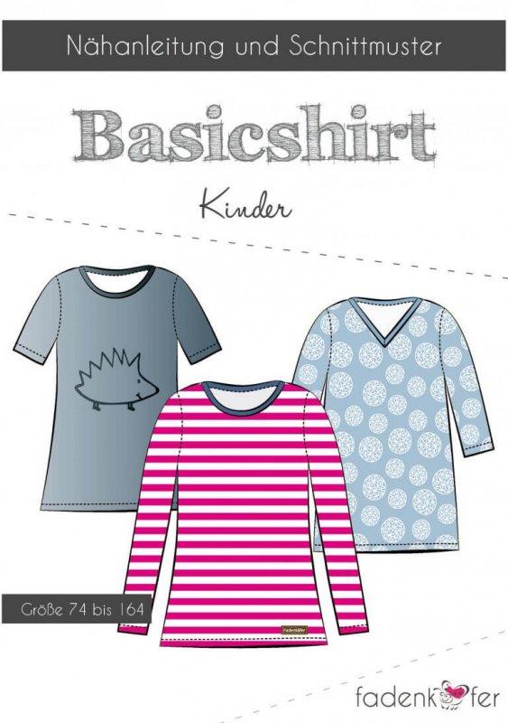 Fadenkäfer Schnittmuster - Basicshirt Kinder