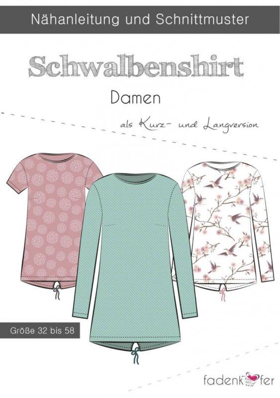 Fadenkäfer Schnittmuster - Schwalbenshirt Damen