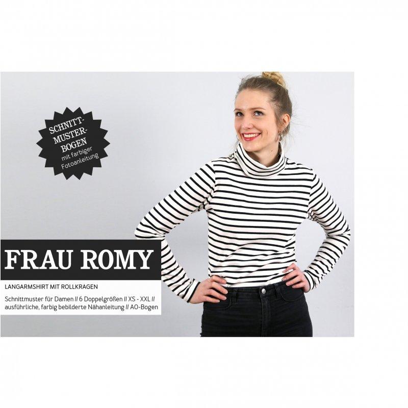 Studio Schnittreif Schnittmuster - Frau Romy Rollkragenshirt