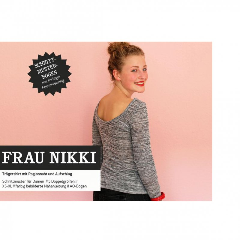 Studio Schnittreif Schnittmuster - Frau Nikki Basicshirt mit Rückenausschnitt