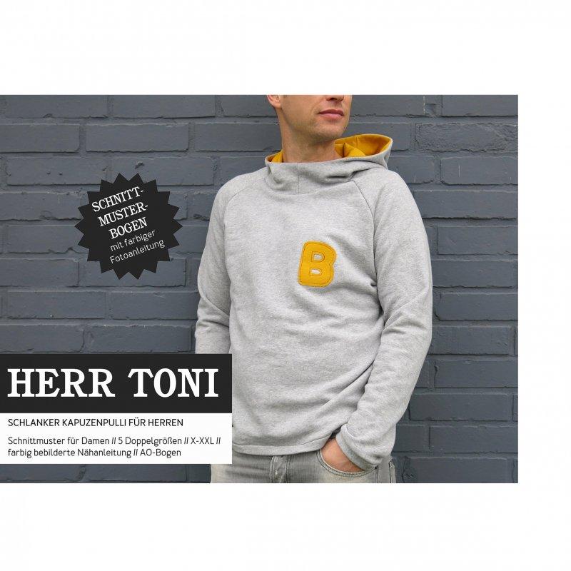 Studio Schnittreif Schnittmuster - Herr Toni Kapuzensweater