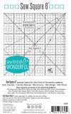 SALE - Sew Square 6 Ruler - Sew Kind of Wonderful