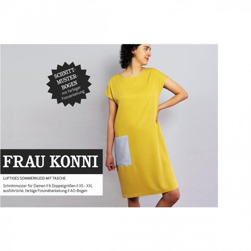Studio Schnittreif Schnittmuster - Frau Konni luftiges Sommerkleid mit Tasche