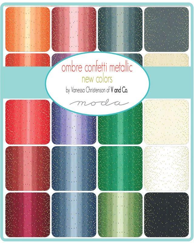 SALE - Ombre Confetti Metallic - New Colors - Fat Quarter Bundle